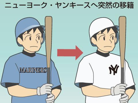 ニューヨーク・ヤンキースへ突然の移籍