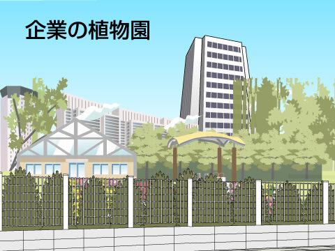 企業の植物園