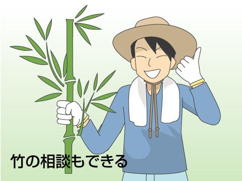 竹の相談もできる!