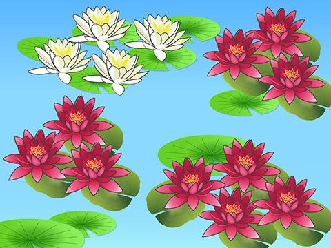 モネが描いた美しく輝く花たち