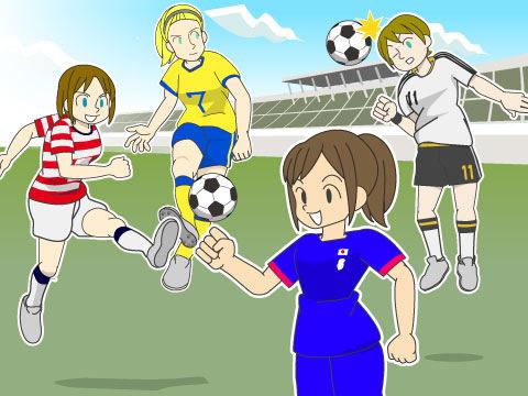 女子サッカーの国際大会