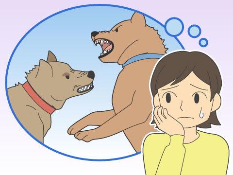 自分の犬が怖い