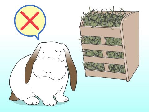牧草を食べてくれないときは