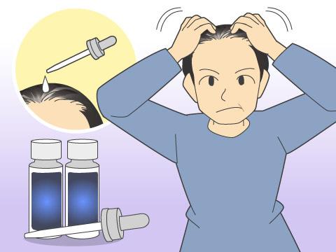 頭皮に薬剤を塗る外用治療