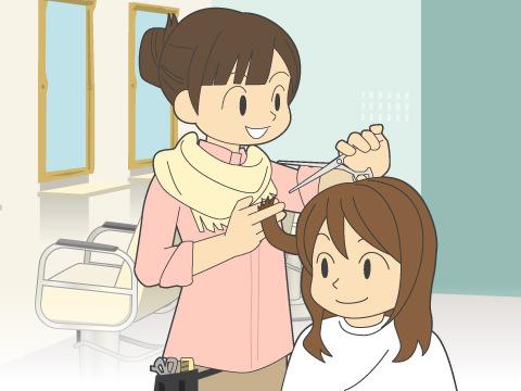 美容室での施術