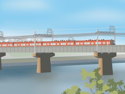 撮り鉄にオススメ!JR東海/名古屋鉄道「庄内川鉄道橋」
