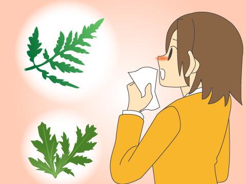 秋の花粉症