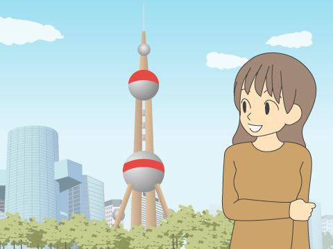 東方明珠塔(とうほうめいしゅとう)/中国