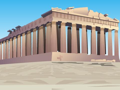 アテネのアクロポリス/ギリシャ