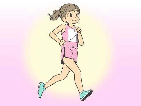 女性の特性とマラソン