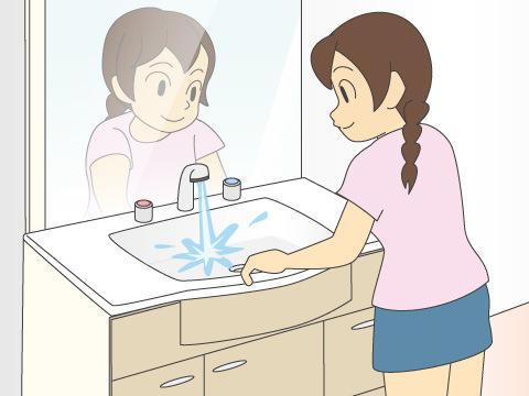 洗面台は水が流せる状態なら、ぜひとも流してみましょう