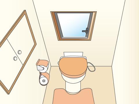 換気扇がなく小窓が付いているトイレはセキュリティ面もチェック!