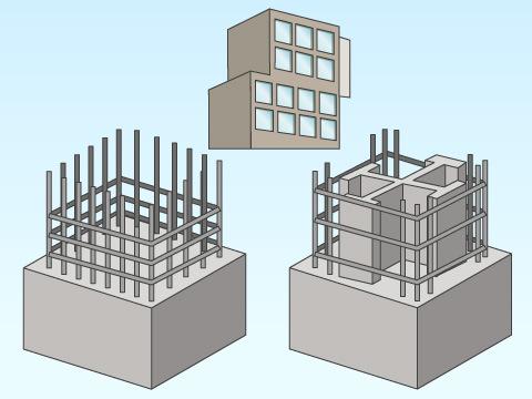 マンションなどの鉄筋コンクリート建築物の構造的な違い