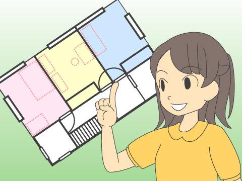間取図に家具の配置を書き込んで、状況を整理する