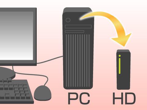 パソコンはバックアップをしておくと安心