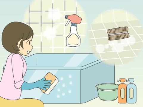 浴室の掃除のコツ