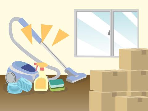 掃除用品や新居の挨拶品はひとまとめにしておく