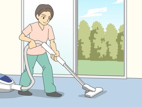 家具がない間に簡単なお掃除を