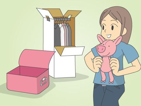 ぬいぐるみの梱包には、様々な資材を利用しよう