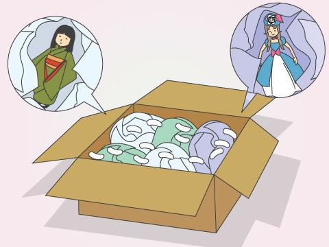 繊細な人形には細やかな梱包が不可欠