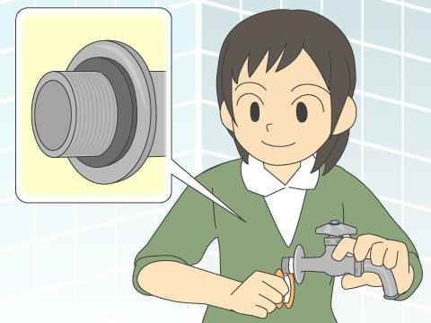 水道栓と配管の継ぎ目からの水漏れの場合