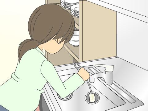 キッチンの排水管の詰まり