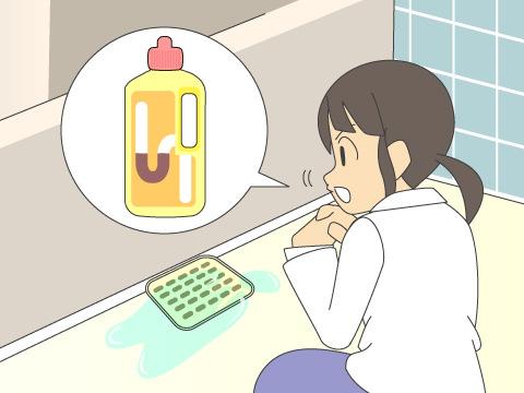 お風呂の排水管の詰まり