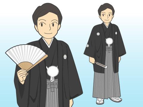 紋付羽織袴(モンツキハオリハカマ)