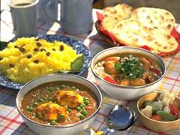 ひき肉と卵のインド風カレー