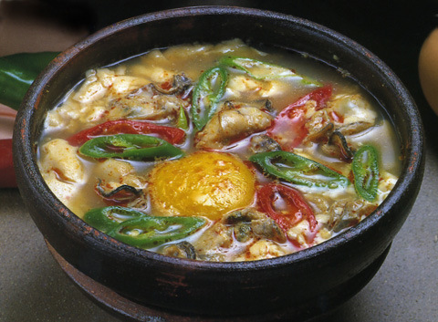 カキと豆腐のチゲ