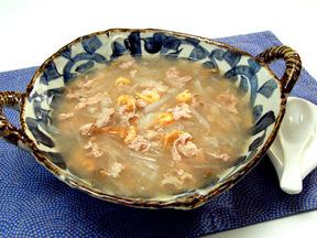 豚肉とダイコンとザーサイのスープ