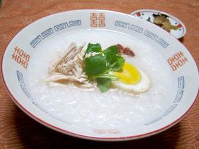 中華粥&トッピング