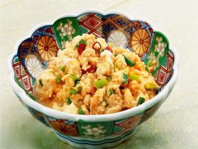 ホタテ風味の炒り豆腐
