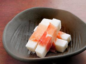 生ハムと長芋の甘酢漬け