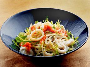 イカと水菜の梅ポン酢