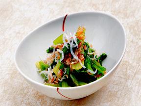小松菜としらすのカツオ醤油