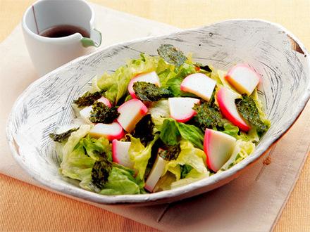 かまぼことレタスの中華風サラダ