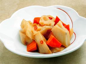 レンコンの甘酢漬け中国風