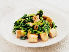豆腐とホウレンソウのサラダ