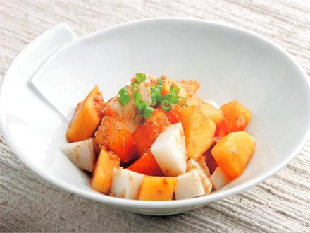 柿と長芋の酢の物