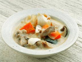 根菜の味噌クリームシチュー