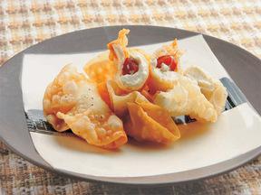 甘納豆とクリームチーズのパリパリ揚げ