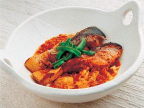 サケの野菜ソース煮