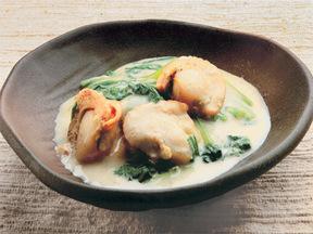 小松菜とホタテの味噌ミルク風味