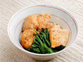 肉団子と豆腐とニラの煮物