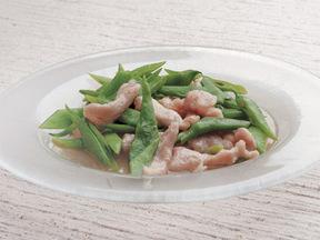 さやいんげんと鶏むね肉の中華風炒め煮