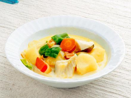 タラとジャガイモのカレースープ