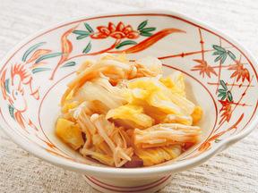 白菜とえのき茸のショウガじょうゆ和え