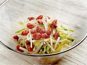 ダイコンと金時豆の和風サラダ