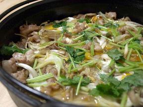 豚肉とゴボウの柳川煮